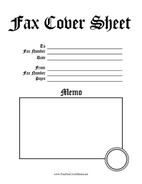 Fax Cover Sheet Designs