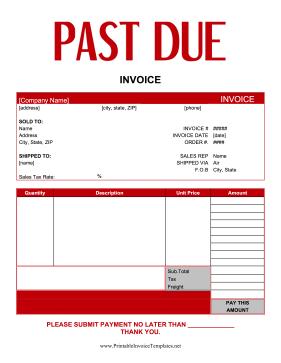 Past Due Invoices