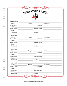 Bridesmaid Planners