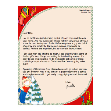 Printable letters from santa letter from santa spiritdancerdesigns Choice Image