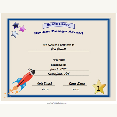 photograph regarding Pinewood Derby Awards Printable named Fresh new Printable Certificates