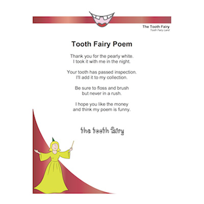 New Tooth Fairy Letters and Poems