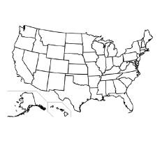 Usa state map printable free