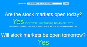 Stock Market Days and Hours