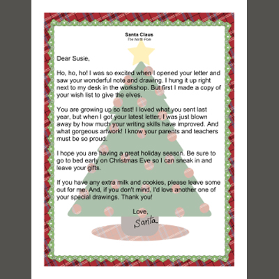 Printable letters from santa new printable santa letters spiritdancerdesigns Image collections