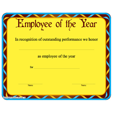 printable employee of the year certificates