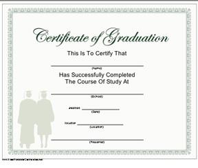 certificate of graduation template