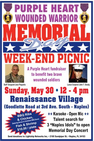 Memorial Weekend Sunday Picnic, Naples, FL