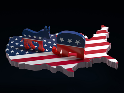 The Battle Between Republicans and Democrats in a Divided America