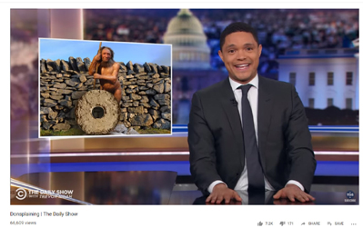 Neanderthals Featured in Comment on Walls, Wheels, and Trump on Daily Show with Trevor Noah