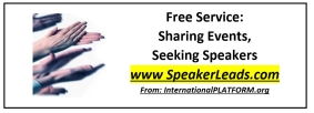 Call For Speakers -- Free Service Shares Events Seeking Speakers