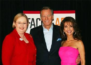 StopAfib.org founder Mellanie True Hills with TV star Susan Lucci and her husband