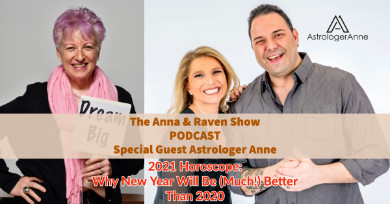 """Check out """"short and sweet,"""" super upbeat podcast about 2021 featuring astrologer Anne Nordhaus-Bike on 'Anna and Raven' Show."""