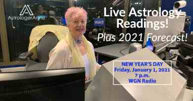 Ring in 2021 with Astrologer Anne! Get live astro readings, new resolutions, annual forecast on WGN Radio, New Year