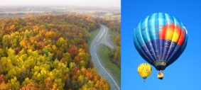 Hot air balloon rides in Michigan are a great way to see Michigan