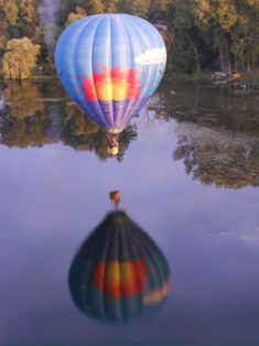 A Perfect Reflection Shot of Westwind Balloon Company of Michigan