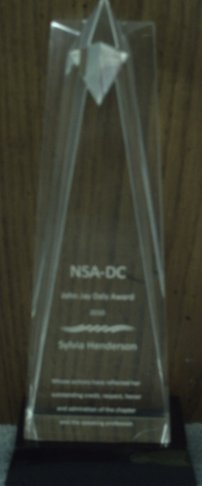 John Jay Daly Award Crystal