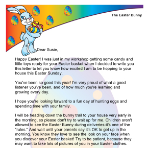 image regarding Letter From the Easter Bunny Printable named Printable Letters Towards the Easter Bunny