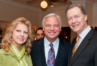 "Ken Wallace and his wife, Mary, flank Jack Canfield - the star of ""The Keeper of the Keys"""