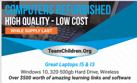 Trading Post for Laptops – Very affordable to buy, IRS approved to Donate.