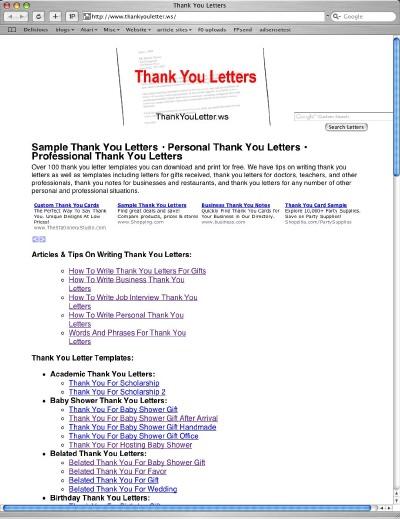 full block application letter definition