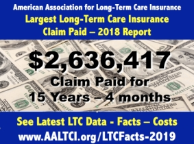 Long-term care insurance claims paid 2018 report
