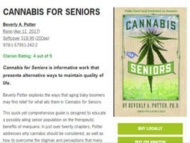 Review of Cannabis for Seniors by Beverly A. Potter in Foreword Review by Katerie Prior