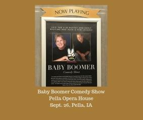 baby boomer clean humor comes to Iowa