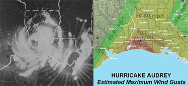 Hurricane Audrey, June 1957, is the Key Event in Linda Cunningham