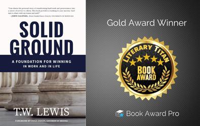 'Solid Ground' by T.W. Lewis Garners  Literary Titan Gold Award