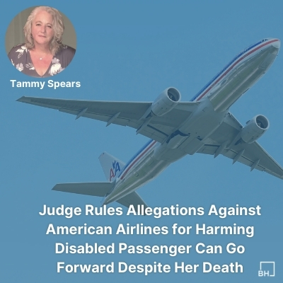 Disabled Passenger's Lawsuit Against American Airlines Moves Forward