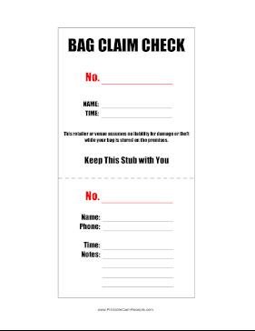 Claim Checks