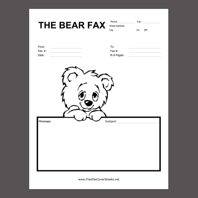 New Printable Fax Cover Sheets