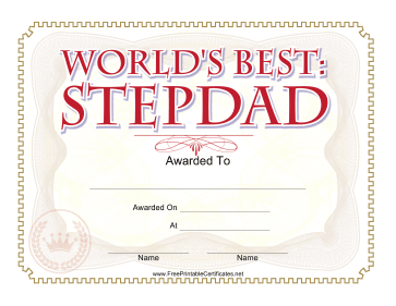 Printables for Dads, Stepdads and Foster Dads