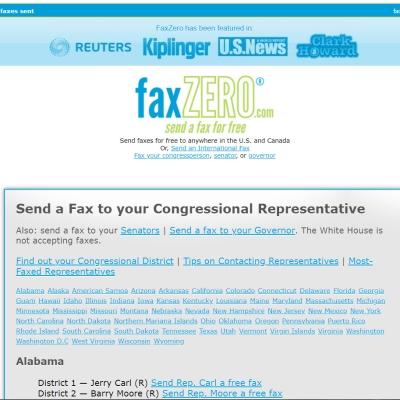 Fax Your Representative