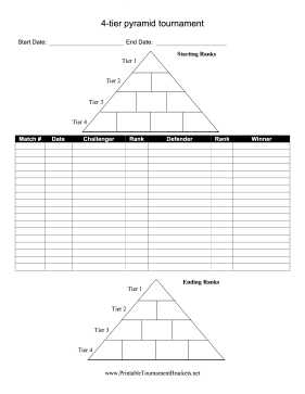 Pyramid Tournament Brackets