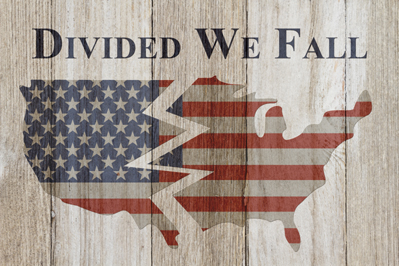 Divided We Fall Map of the U.S.