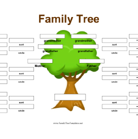 family tree outline template free
