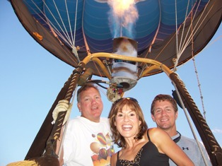 FOX-2 Personality Lila Lazarus with Scott Lorenz of Westwind Balloon Company in South Lyon Michigan