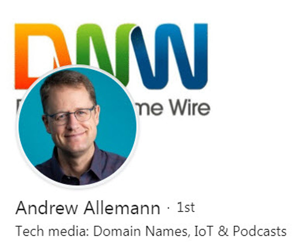 Andrew Allemann -- DomainNameWire.com