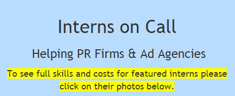 Interns on Call -- Helping PR Firms & Ad Agencies